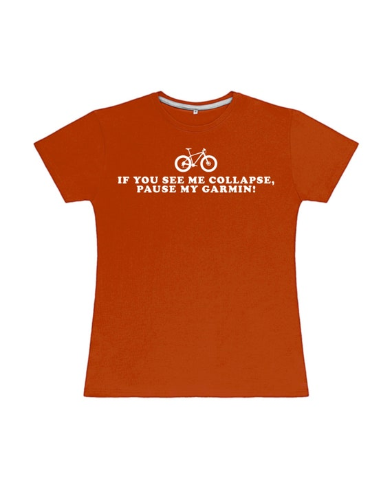 Men/'s Garmin NEW Running Cycling pause my T-Shirt If you see me collapse