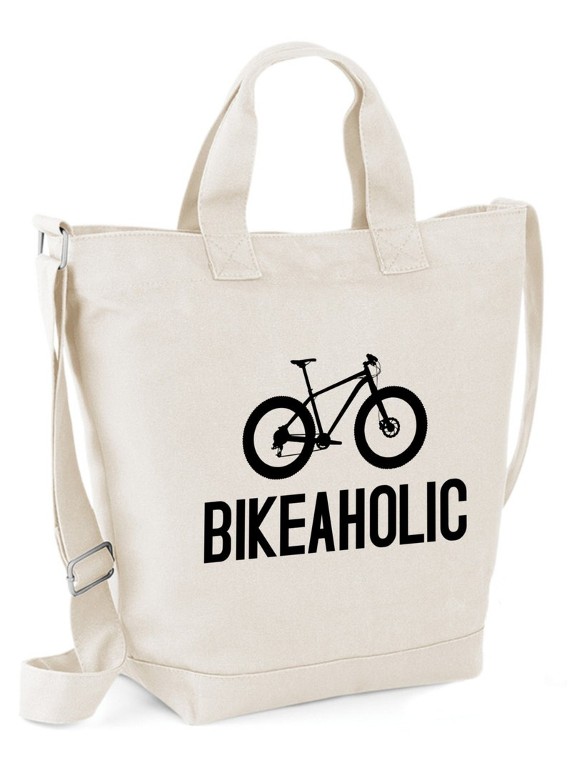 f798b9368489 Cycling BIKEAHOLIC Mountain Biking Canvas Day Bag Retro