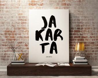 Jakarta Poster Etsy