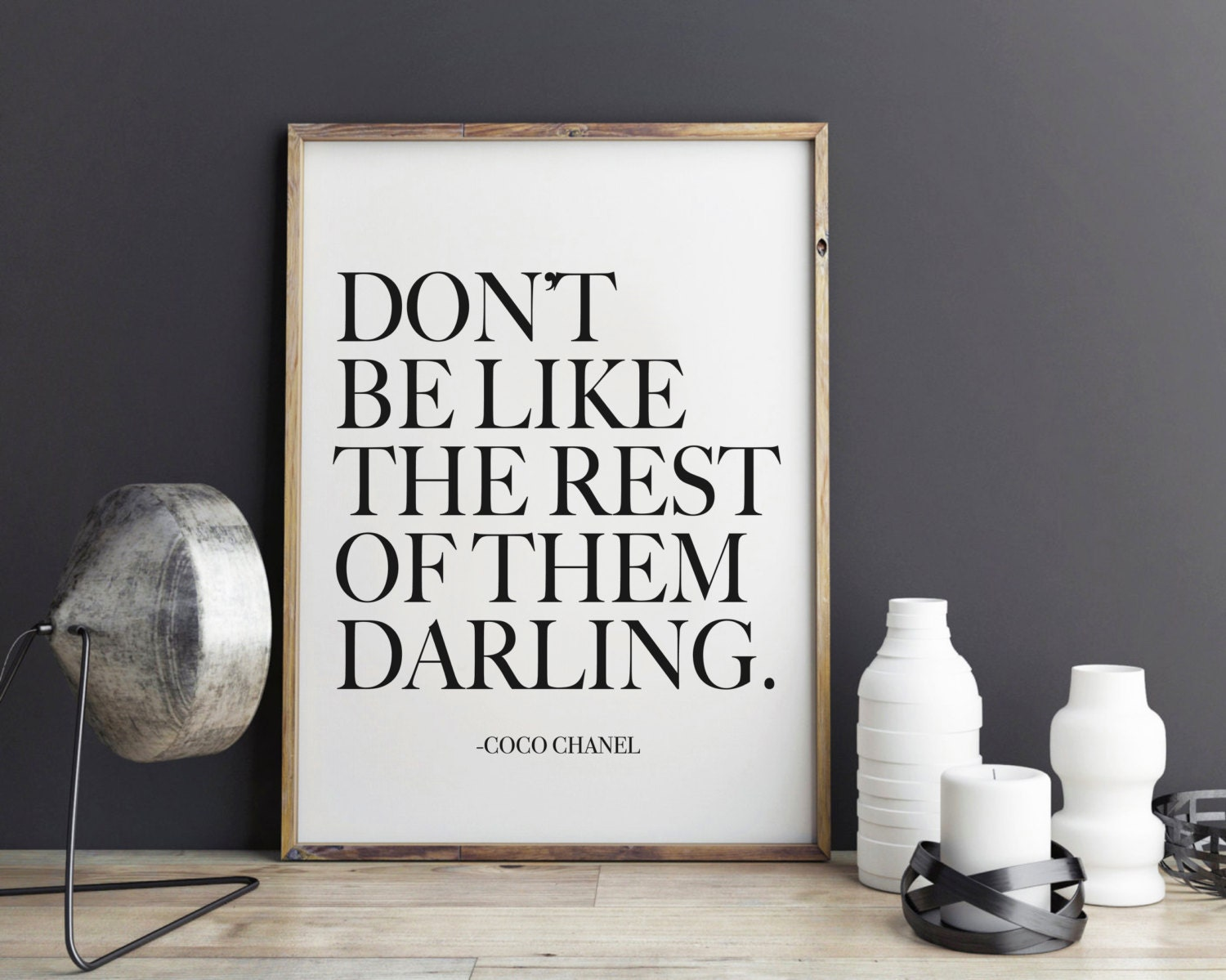 Darling Coco Chanel Quote Fashion Print Fashion art wall ...