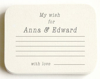Wedding Advice Card - for the Bride & Groom - PERSONALIZED