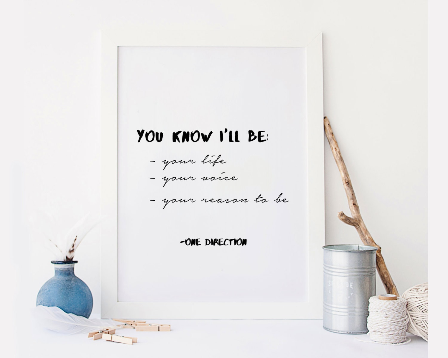 One Direction Quote Directioner Song Lyric Art Album Etsy