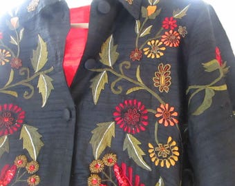 Black Embroidered and Embellished Jacket