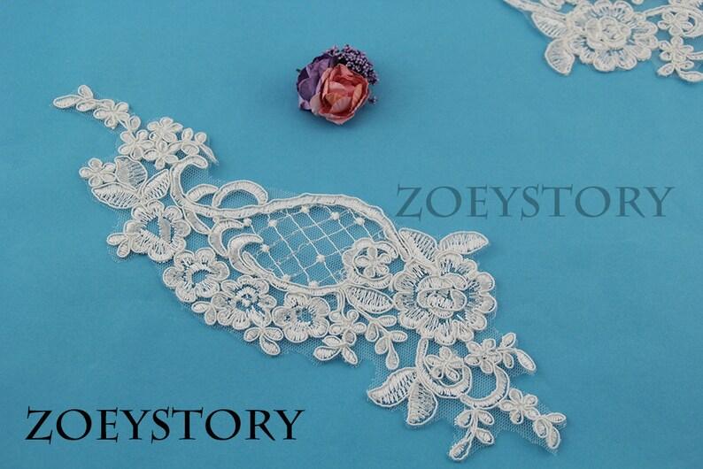 Antique beaded lace applique chloe