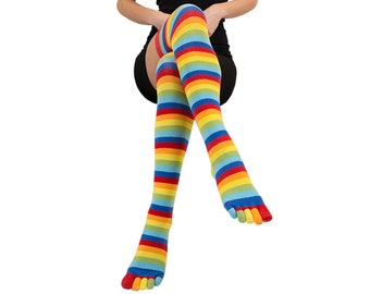 TOETOE - Essential - Over-Knee Toe Socks (Size UK 4-11   EU 35-46)