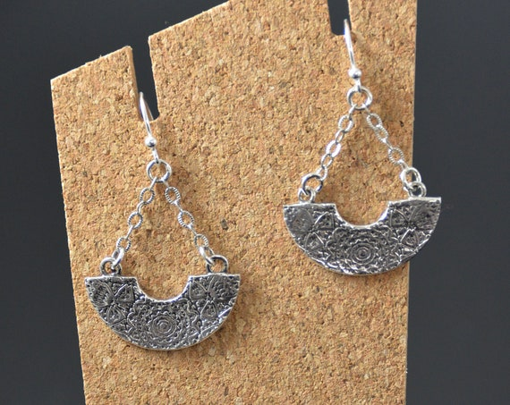Dangle Earrings, Handmade of fine silver Jewelry