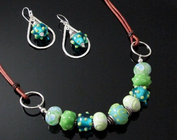 Spring Jewelry, springtime necklace set