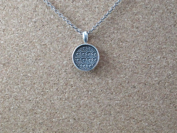 Necklace Jewellery, Handmade Fine Silver Waves