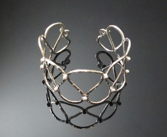 Handmade Cuff Bracelet, Sterling Silver