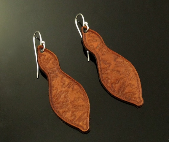 Leather Earrings with Sterling Earwires