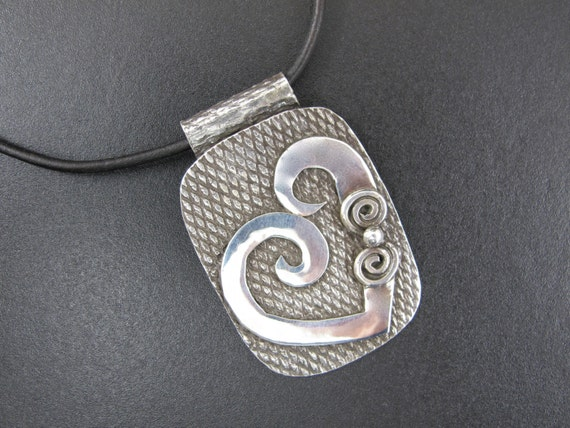 Heart Necklace - sterling metalsmith