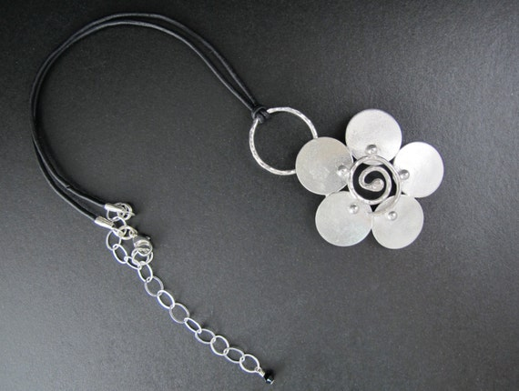 Flower Necklace- Handcrafted Metalwork