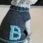Personalized Dog Clothes - Monogrammed Dog Sweater - Handmade Dog Clothes - Pet Clothing - Small dog sweater - Puppy sweater - BubaDog