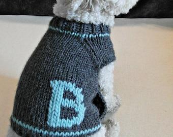 c34511ebf9b4 Personalized Dog Clothes - Monogrammed Dog Sweater - Handmade Dog Clothes - Pet  Clothing - Small dog sweater - Puppy sweater - BubaDog
