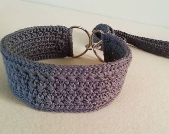 Crochet Dog Collar and Leash made with friendly Cotton yarn, Handmade Pet collar,