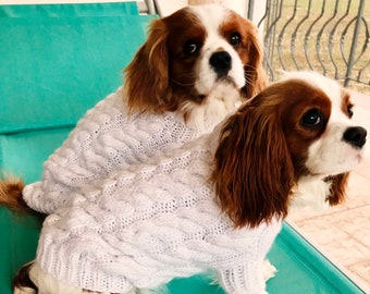 a9354353f25b Dog sweater, Cable PET Clothing, Handmade Dog clothes, Small Dog Sweater,  Custom dog sweater, XS Dog clothes, Dog Tops, BubaDog