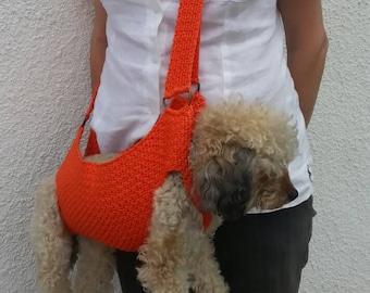Cotton Pet carrier / Crochet dog carrier / BubaDog pet summer carriers