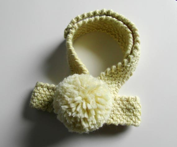 il_570xN.1243662806_op0f crochet dog harness with huge pom pom pale yellow harness etsy
