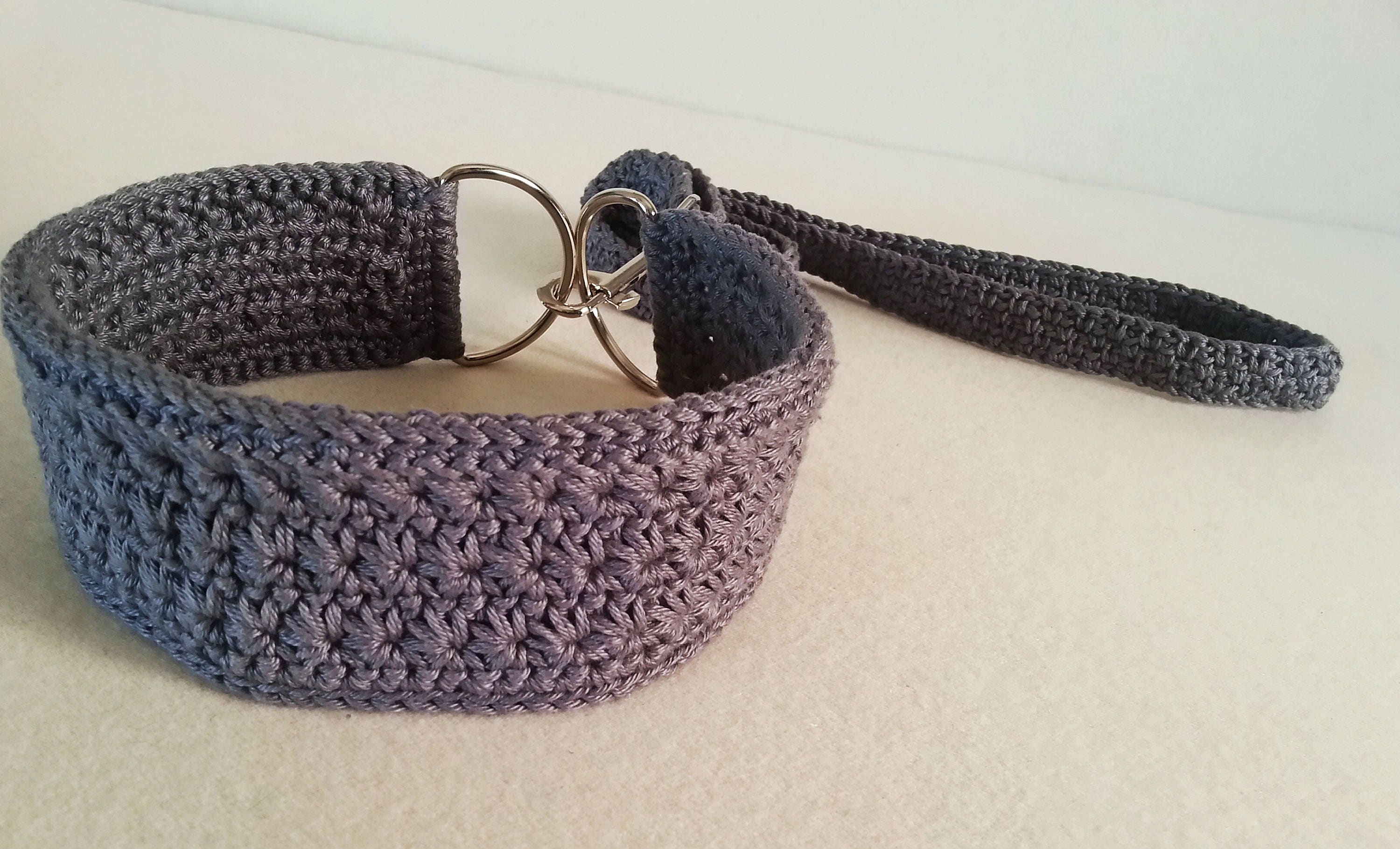 Crochet Dog Collar And Leash Made With Friendly Cotton Yarn Etsy