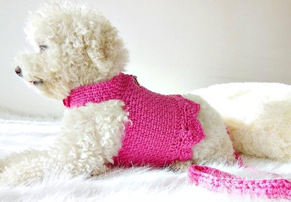 il_570xN.1431182610_8jmm crochet dog harness dog dress small dog clothes harness and etsy