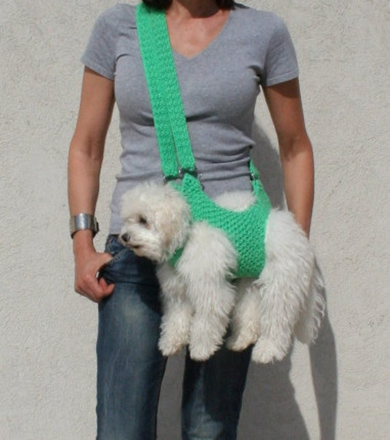 Pet Carrier Crochet Dog Carrier Dog Sling Bubadog Pet Etsy
