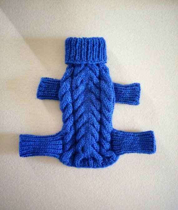Cable Knit Dog Overall Knitted Dog Sweater Designer Dog Etsy