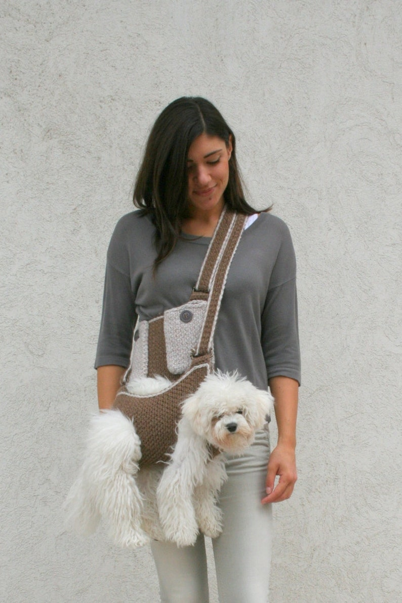 Pet carrier / Crochet dog carrier / Dog sling carrier with image 0