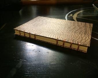 Coptic Stitch Journal - 5x7in - Sobek - Reptilian Textured Paper - Brown, Cream