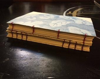 Coptic Stitch Journal - A6 - Mini Spell Books - Parchment Pages - Blue, Purple, Yellow, Cream