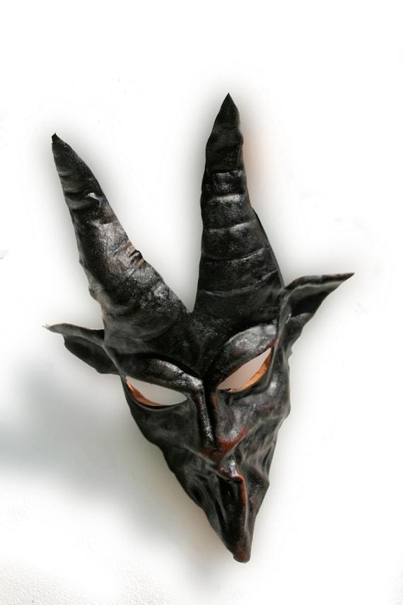 Black rabbit bunny mask leather ears costume cospaly larp renaissance wicca pagan magic burning man