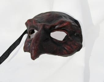 hawk falcon mask dark leather costume larp renaissance burning man medieval bird of prey lady hawk rapacious masquerade
