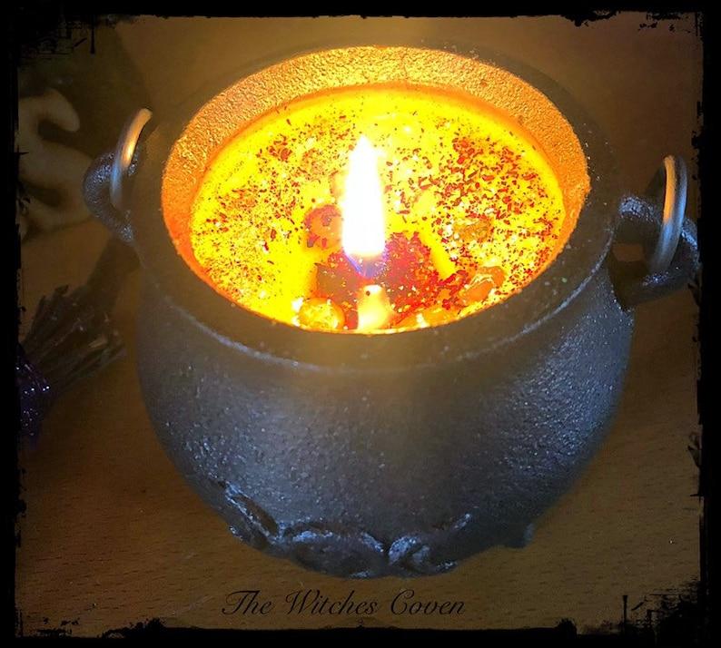 Mini Cast Iron Cauldron Candle by Etsy