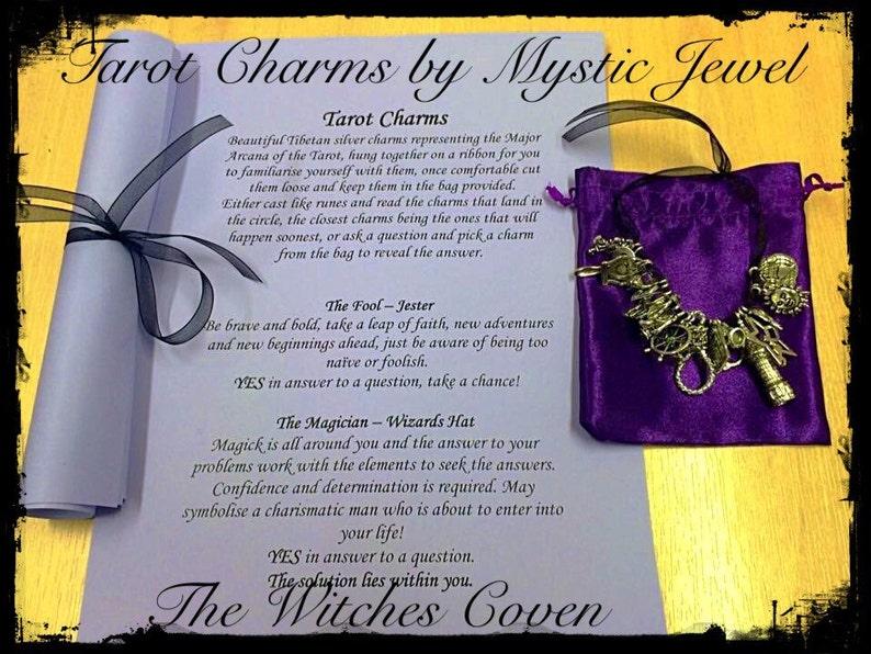 Tarot Charms by Mystic Jewel, Tarot, silver charms, divination tool, tarot  runes, major Arcana, tarot reading, tarot reader