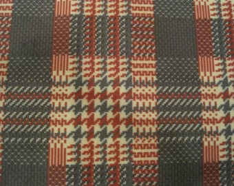 """Doctor Dr Who 4th Doctor Season 17 Scarf Patches/Tartan Check Fabric """"Shada"""""""