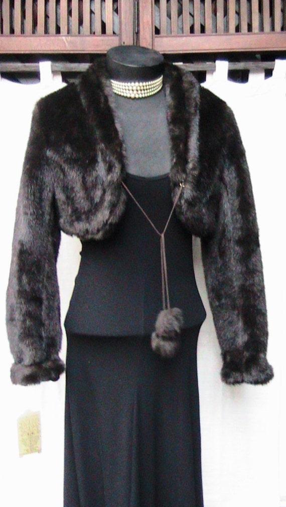 VINTAGE DIVIDED fake fur jacket (Small)