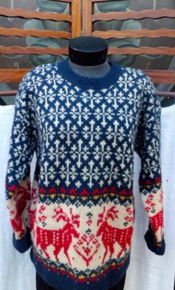 1970s EDDIE BAUER Wool XMAS Sweater