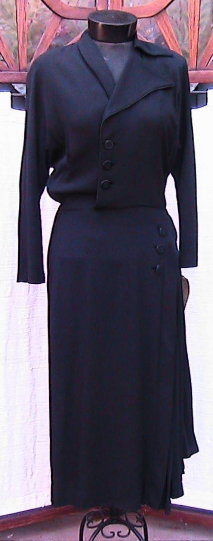 1940s Vintage Nathalie Nicoli California Black Cre