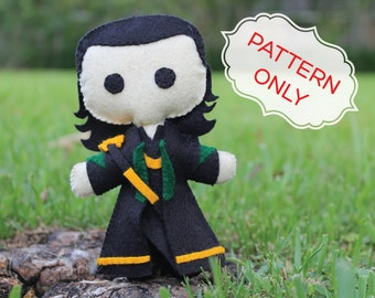 PATTERN: Loki Felt Doll