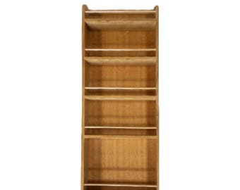 Solid Oak Larder Rack Internal Spice Rack for Pantry Cupboard 900mm tall x 100mm deep, 5 Shelves for Bottles & Jars - 300mm to 500mm wide