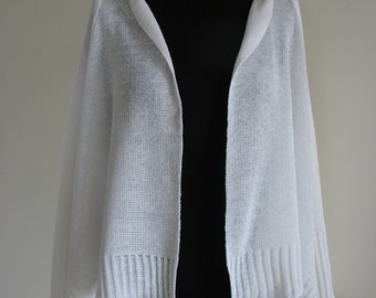 Natural 100% Linen knitted cardigan-poncho, Handmade, One size, High-quality, Women, Many colors, Women clothing