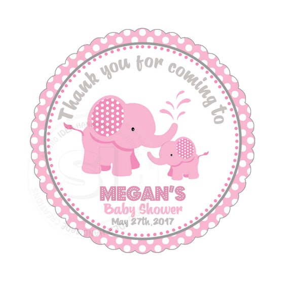 photo relating to Printable Baby Shower Tags called Customized Elephant Printable Youngster Shower Tag- 2.5\