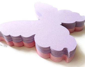 12 extra Large Pink & Lavender Butterfly Die cuts - Set of 12 pcs  or CHOOSE YOUR COLORS