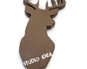 "5"" Deer Cut outs, Brown large Deer Cut outs-Die cuts- Winter Embellishments or Choose Your Colors - Set of 20pcs, 40pcs, 80pcs"