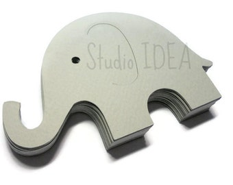 Grey large Elephant Cut outs-3in, 4in Elephant cut outs- or  Choose Your Colors