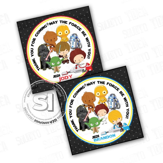 photo about Printable Star Wars Characters identified as Star Wars Custom made Printable Thank oneself Tags- Boys or