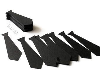 """Black Tie  2"""" Cut outs, Confetti - Set of 60pcs,120pcs- Choose your Colors & Size"""