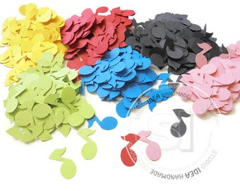 Music notes Cut outs, Embellishments- Music theme Embellishments - Choose Your Colors