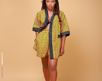 Unisex Kimono + Short - Yellow
