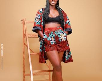 Unisex Kimono + Short - Red