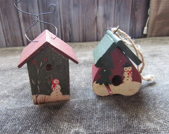 Christmas Birdhouses.Christmas Birdhouses Etsy